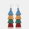 Bohemian Handmade Multi-layer Tassel Earrings Irregular Gradient Tassel Long Earrings - 10
