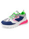 Women's Large Size Breathable Mesh Lace-up Casual Sports Shoes - Multi Color