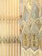 Cortinas bordadas de estilo europeo y pantallas de ventana bordadas que sombrean las cortinas de alivio 3D de aislamiento térmico - Amarillo