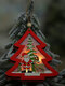 1Pc Christmas Ornaments With Light Hollow Wooden Pendants Creative Car Small Tree Ornaments - #02