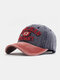 Men Washed Cotton Letter Pattern Patch Baseball Cap Outdoor Sunshade Adjustable Hats - #04