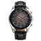 Business Style Men Wrist Watch Decorate Three Dials Leather Strap Quartz Watches - 03