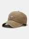 Unisex Cotton Made-old Smiling Face Young Outdoor Sunshade Baseball Hat - Khaki