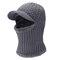 Berretto in maglia di velluto lavorato a maglia invernale in lana da uomo moda Outdoor Sport Cycling Face Maschera