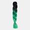 HalloweenColored Gradient Dirty Braids High Temperature Fiber Big Braids Ponytail Hair Extensions - 12