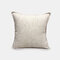 Solid Color Sofa Pillowcase Polyester Linen Creative Car Cushion Room Living Room Pillow - Beige