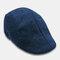 Mens Breathable Painter Beret Caps Casual Outdoor Visor Forward Hat - Navy