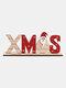 1Pc Christmas Festival Decorations Wooden Letter Decoration Desktop Creative Printing Decoration - #01