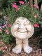 1 pieza divertida expresión Muggly's The Face estatua jardinera jardín hilo escultura decoración flor planta maceta - #01