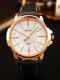Fashion Men Quartz Watch Luxury Roman Numeral Wrist Watch - White