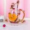 Эмалированная чашка Подарочная чашка Цветочная чашка Стеклянная эмалированная чайная кружка Кофейная чашка с ложкой - #5