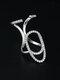 Elegant Opening Diamond Nail Ring Tail Ring - #02