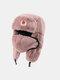 男性と女性の防寒冬用トラッパーハットマスクトラッパーハット付きの厚い冬用ハット耳栓 - #07