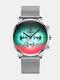 Luxury 30 Meters Waterproof Clock Male Casual Mesh Belt Quartz Watch - Silver Shell Silver Band