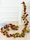 1PC 2.5m Artificial Flower Garland Ivy Autumn Small Peony Flowers Fake Simulation Plant Autumn Leaves Vine Home Wall Garden Wedding Arch Decor - #02