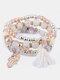 Vintage Multicolor Beautiful Opal Bracelet Temperament Multi-layer Tassel Bracelet - #19