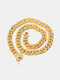 Hiphop Exaggerated Diamond Alloy Domineering Large Gold Chain Necklace - Gold