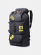 Men Outdoor Canvas Large Capacity Tactical Fishing Hiking Travel Backpack - Black