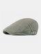 पुरुषों के कपास Plus सिर परिधि एडजस्टेबल आरामदायक फ्लैट टोपी आगे टोपी टोपी टोपी - हरा