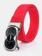Men Nylon 120cm Automatic Buckle Fashion Outdoor Business Belt - Red1