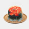 Ladies Curling Cap Travel Shopping Sun Hat Dome Embroidered Beach Hat Breathable - #02