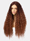 3 Colors Front Lace Long Curly Hair Gradient Middle Part High Temperature Fiber Wig - #03