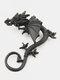 Three-dimensional Metal Dragon-Shaped Without Pierced Ear Hook Vintage Animal-Shape Women Earrings - Black
