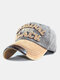 Men Washed Cotton Embroidery Baseball Cap Outdoor Sunshade Adjustable Hats - #02