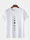 Mens 100% Cotton Moon Eclipse Printed Short Sleeve Graphic T-Shirt - White