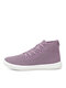 Women Mesh Breathable Solid Color Board Shoes Casual Soft Boots - Pink