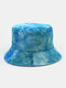 Women & Men Double-sided Tie-dye Corduroy And Cotton Warm Soft Outdoor Casual All-match Bucket Hat - #08