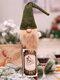 1 قطعة عيد الميلاد مجهولة الوجه العجوز دمية غطاء زجاجة النبيذ كيس النبيذ هدية حقيبة زينة - أخضر