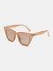 ユニセックスファッションカジュアルスクエアフルフレームUV保護サングラス - ピンク