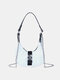 Women Oxford Chains Solid Crossbody Bag Handbag Satchel Bag - White