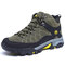 Men Outdoor Casual Warm Slip Resistant Sport Hiking Shoes - Green