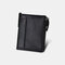 Men Genuine Leather RFID Anti-theft Multi-slots Retro Large Capacity Foldable Card Holder Wallet - Black
