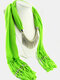 20 Colors Bohemian Women Scarf Necklace Shawl Autumn Winter Tassel Pendant Necklace - #16