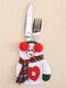 1 قطعة سكين عيد الميلاد شوكة مجموعة أدوات المائدة تنورة السراويل نافيداد ناتال طاولة طعام زينة عيد الميلاد للمنزل عيد الميلاد - #03