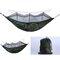Singola Doppia campeggio Amaca con zanzariera Zanzariera per esterni portatile Amaca per tende Paracadute campeggio Letto per dormire - verde
