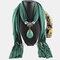Bohemian Dacron Multi-layer Necklace Handmade Teardrop Pendant Tassel Women Scarf Shawl Necklace - 01