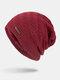 メンズウールPlus厚手の冬は暖かく防風ニット帽を保つ - ワインレッド