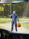 1 PC Halloween Doll Pendant Creative Horror Toys Zombies Skeleton Dwarf Decoration Car Rear View Mirror Hanging Funny Festival Gifts - #12