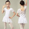 Lace Patch Girls Short Sleeve Ballet Dress For 2-11 Years