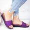 大きいサイズの女性のカジュアルウェッジビーチスライドスリッパ - 紫