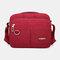 Men Casual Waterproof Phone Bag Crossbody Bag - Wine Red