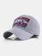 पुरुष कढ़ाई मछली और पत्र पैटर्न बेसबॉल कैप आउटडोर सनशेड समायोज्य टोपी - अंधेरे भूरा