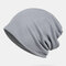 Thin Beanie Hat Solid Color Mesh Breathable HairBand Scarf Multifunctional - gris