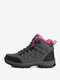 Women Casual Suede Warm Lining Lace Up Hiking Sneakers - Gray Rose