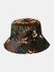 Unisex Cotton Camouflage Solid Climbing Outdoor Sunshade Adjustable Bucket Hat - Camo-2