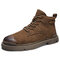 Men Synthetic Suede Outdoor Slip Resistant Work Style Ankle Boots - Khaki